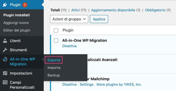 esportare-backup-all-in-one-wp-migration