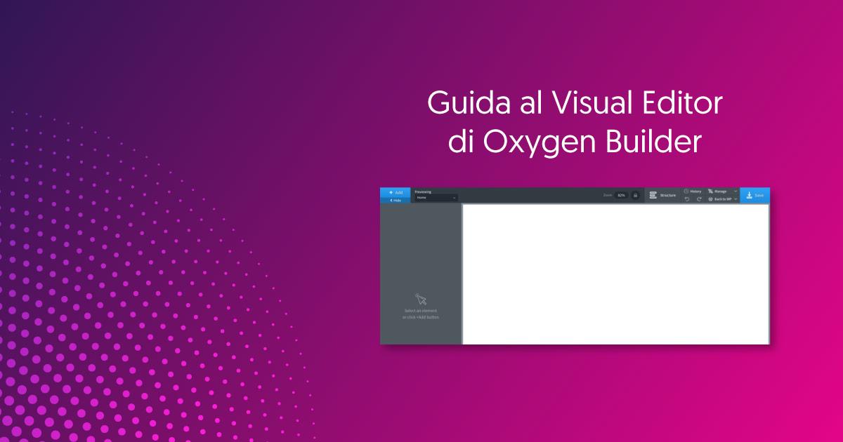 visual-editor-oxygen-guida-italiana